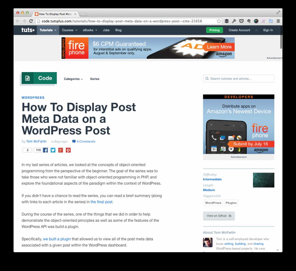 Display Post Meta Data in WordPress