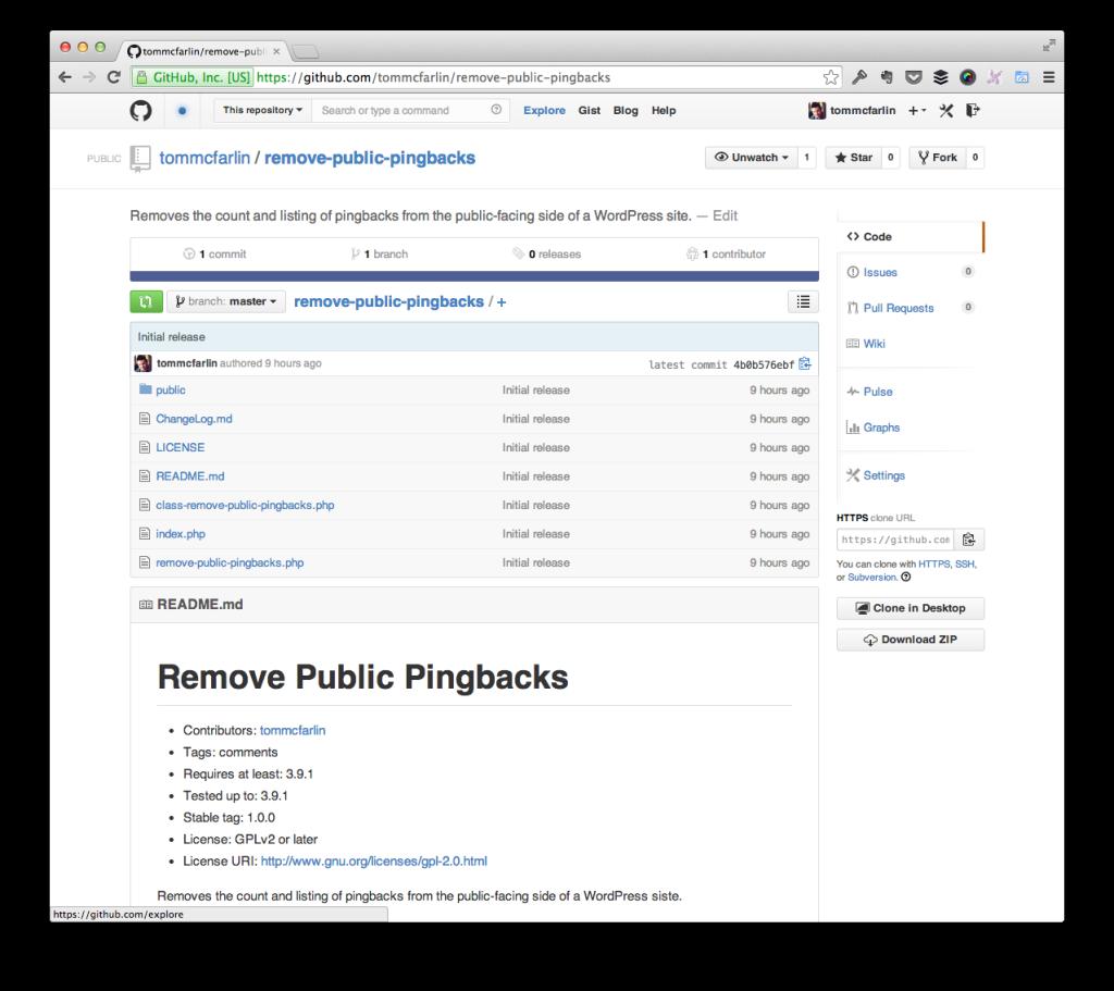 Remove WordPress Pingbacks