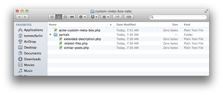 Custom Meta Box Tab