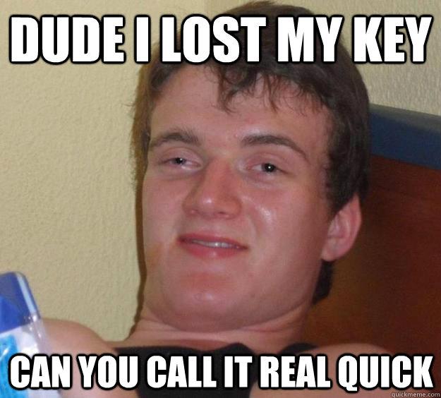 I lost my key