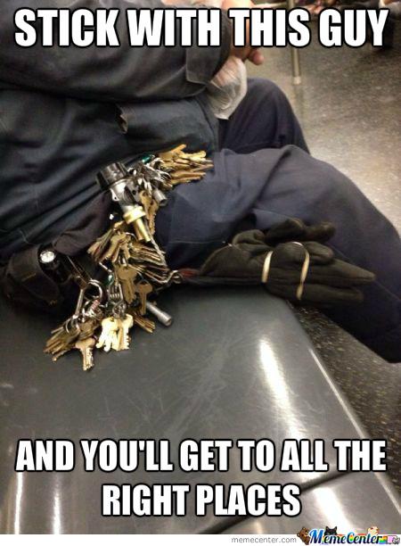 Clear keys are key.