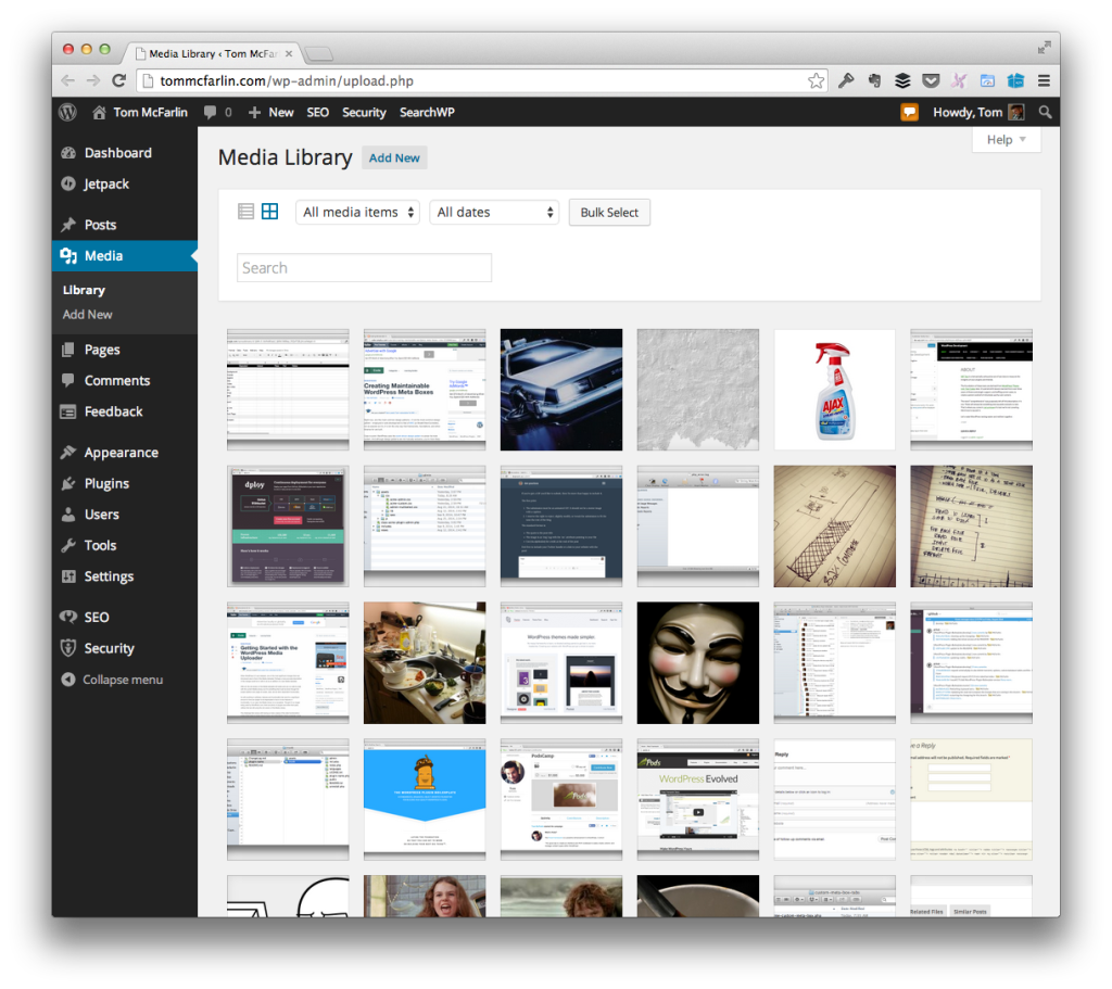 The WordPress Media Library