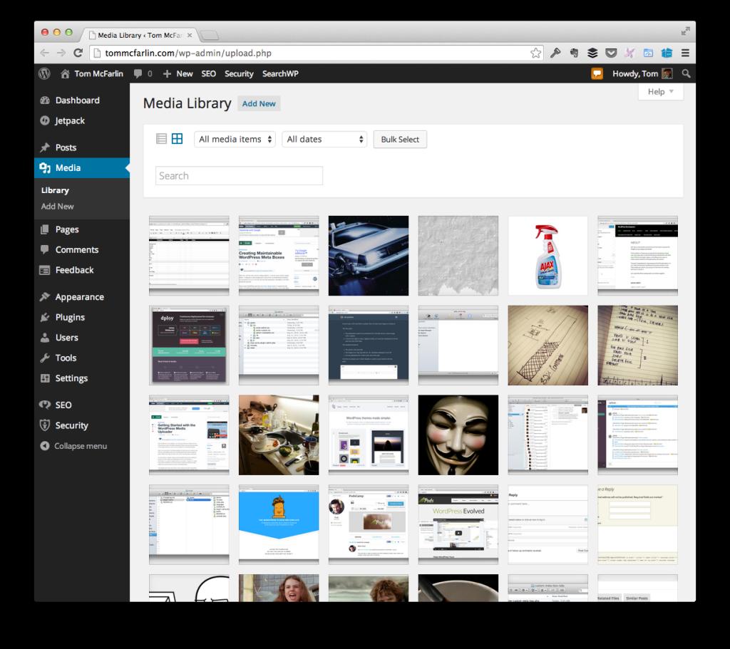 The WordPress Media Library