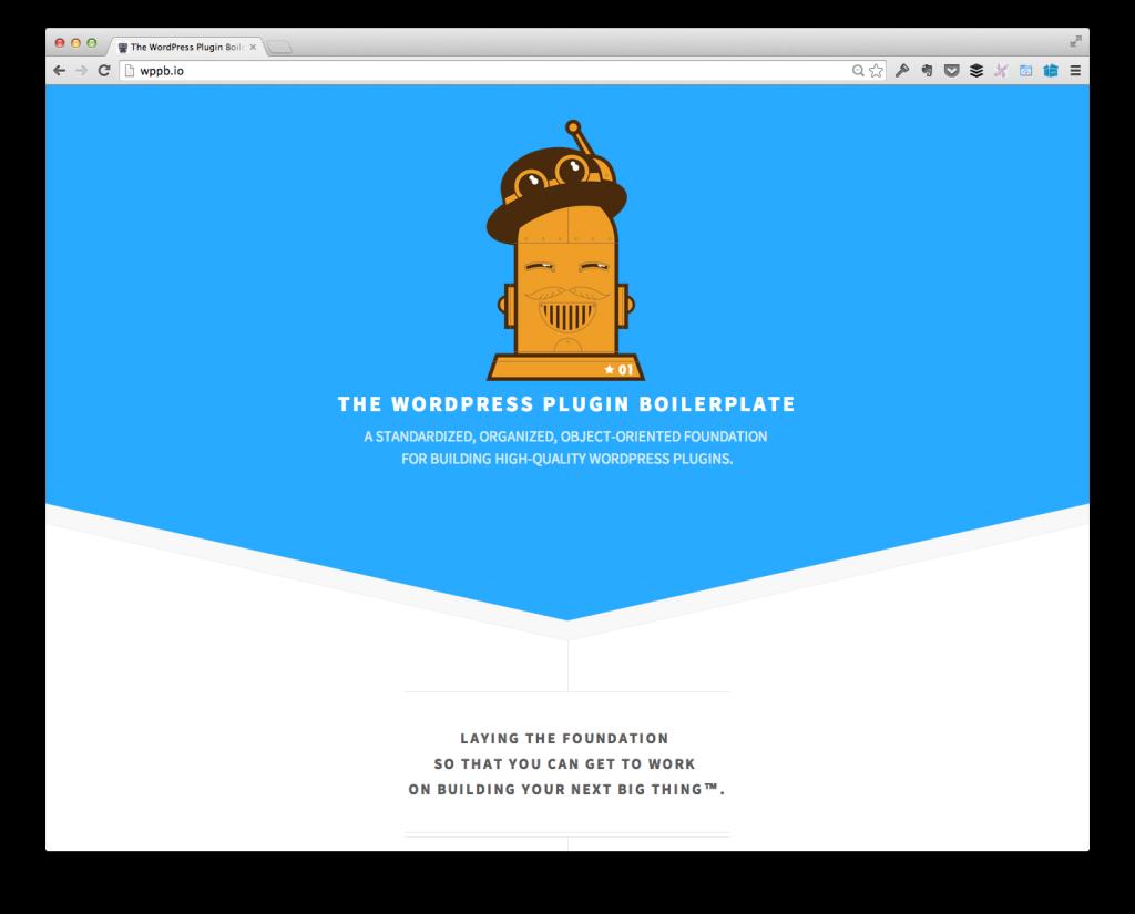The WordPress Plugin Boilerplate Homepage