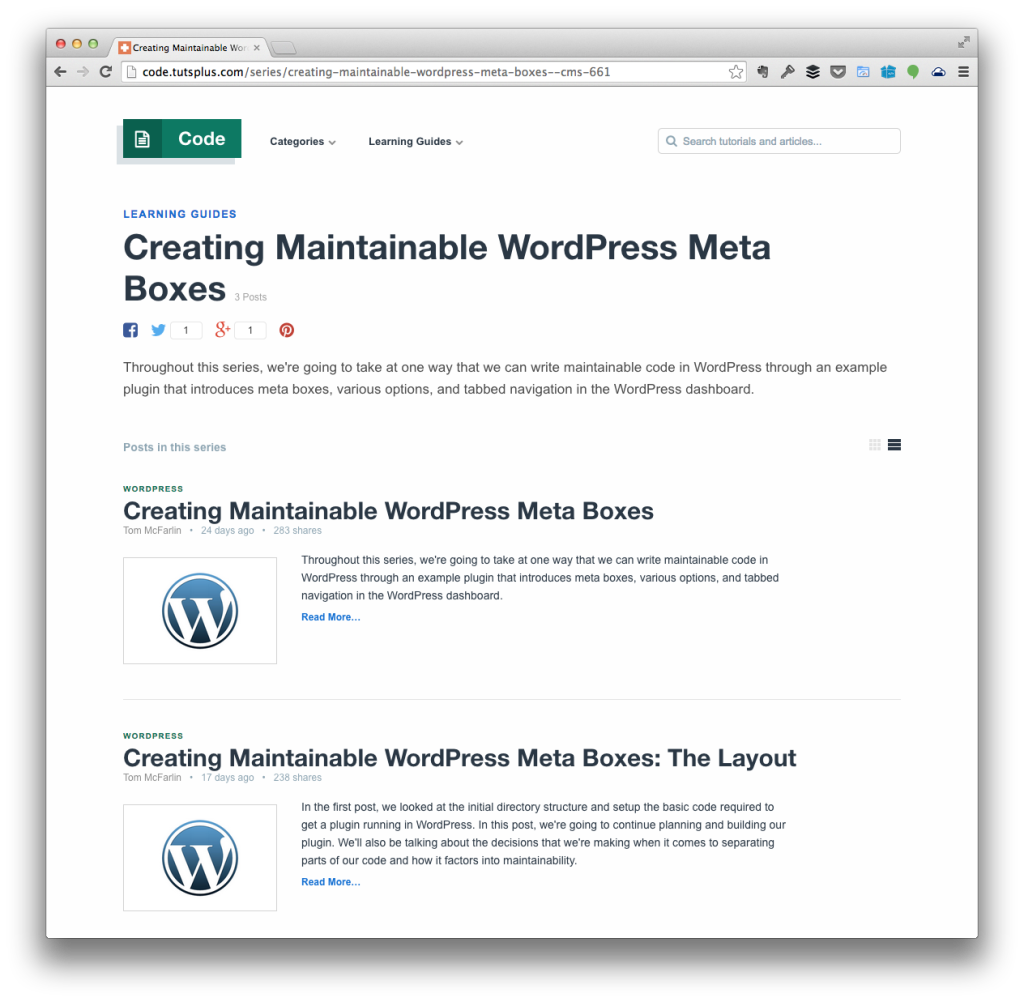 Maintainable WordPress Meta Boxes