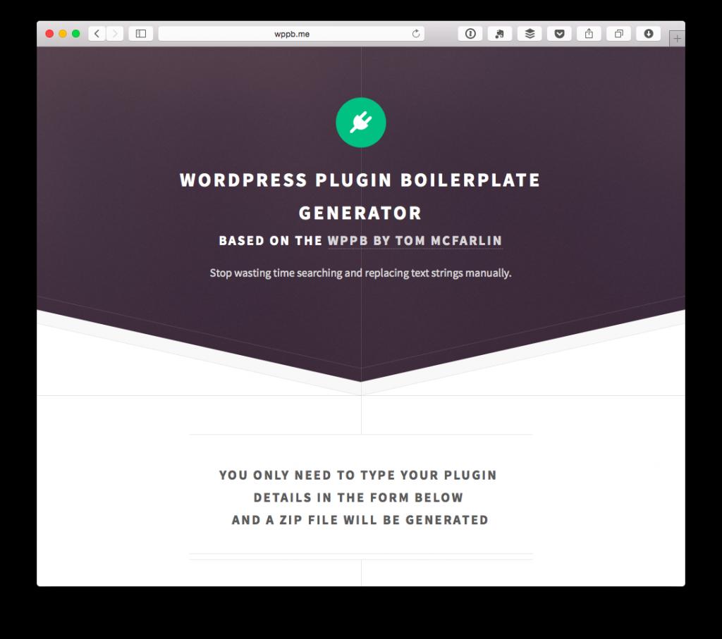 WordPress Plugin Boilerplate Generator