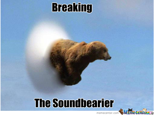 Beaking the Sound Bearier