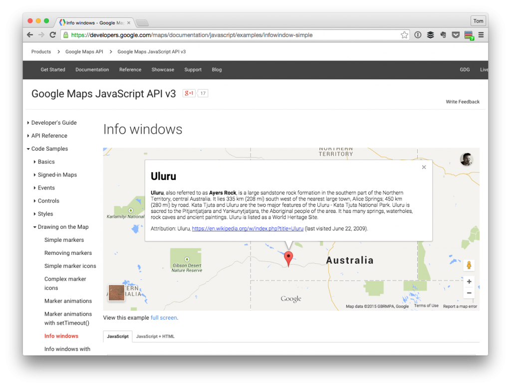 Google Maps InfoWindow