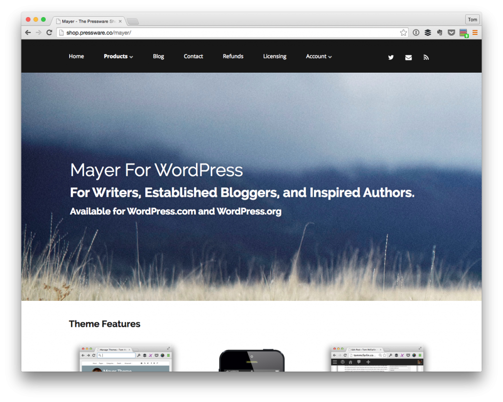Mayer For WordPress