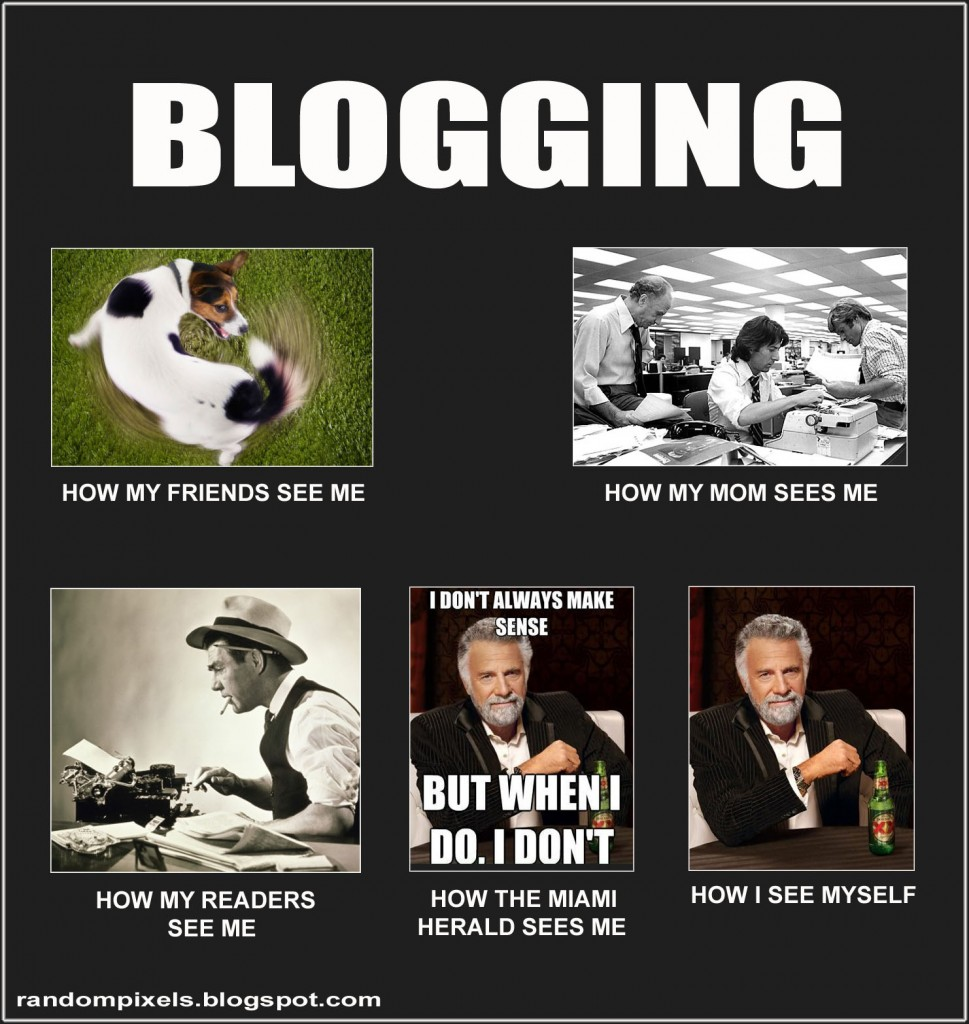How I See Me Blogging