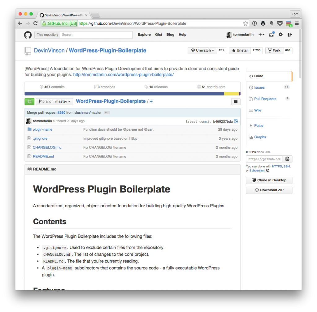 The WordPress Plugin Boilerplate on GitHub