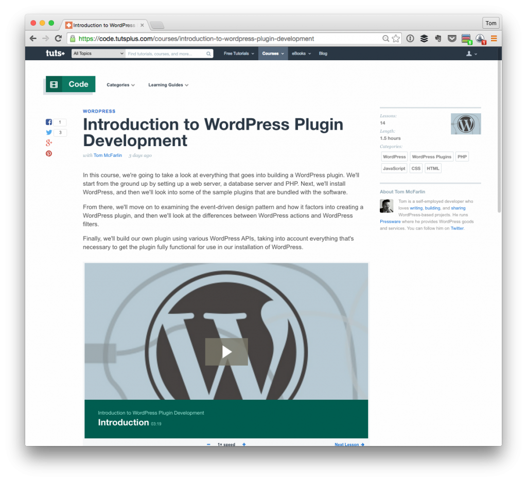 Learn To Write WordPress Plugins