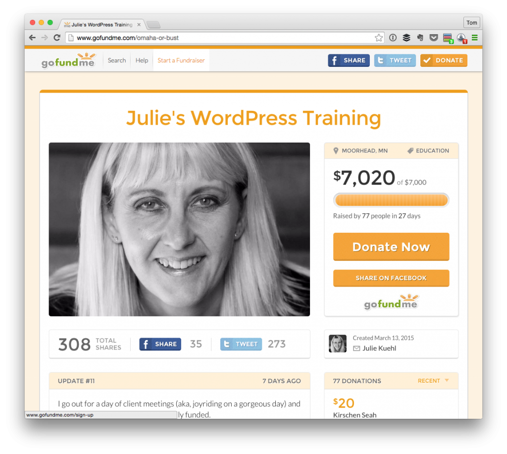 Julie's WordPress Training