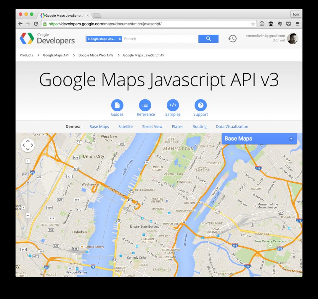 The Google Maps JavaScript API