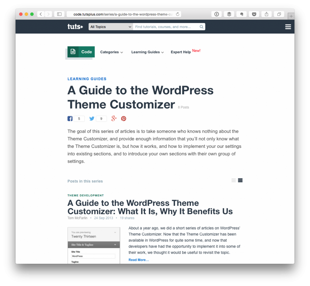 A Guide to the WordPress Theme Customizer