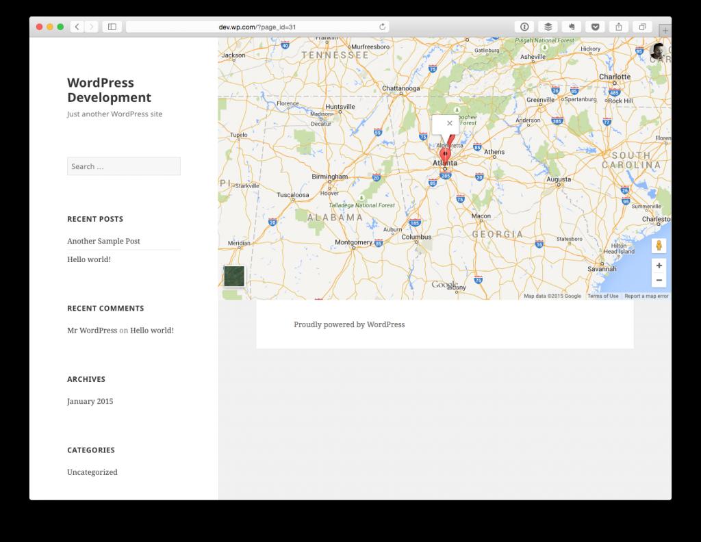 Google Maps empty InfoWindow