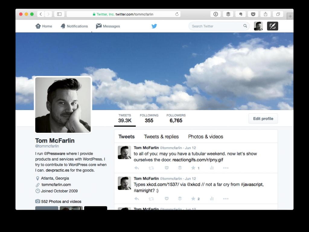My Twitter Profile
