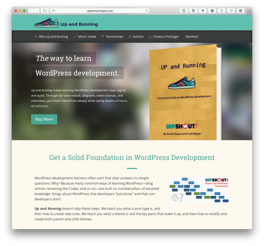 Up and Running with WordPress