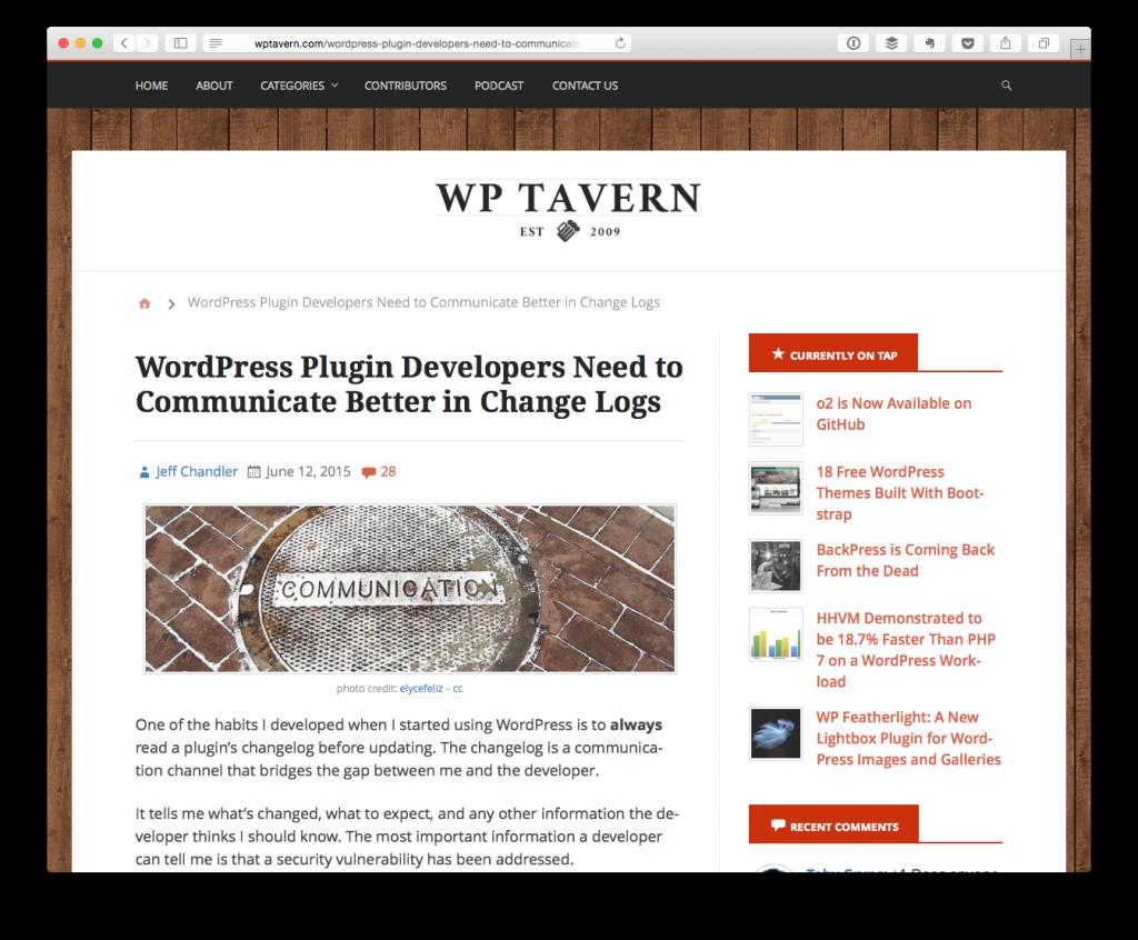 WordPress Plugin Developers Need to Communicate Better in Change Logs