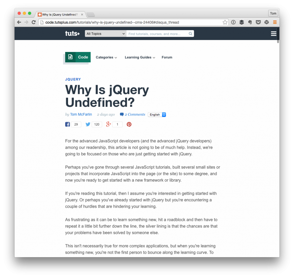 Why is jQuery is Undefined?