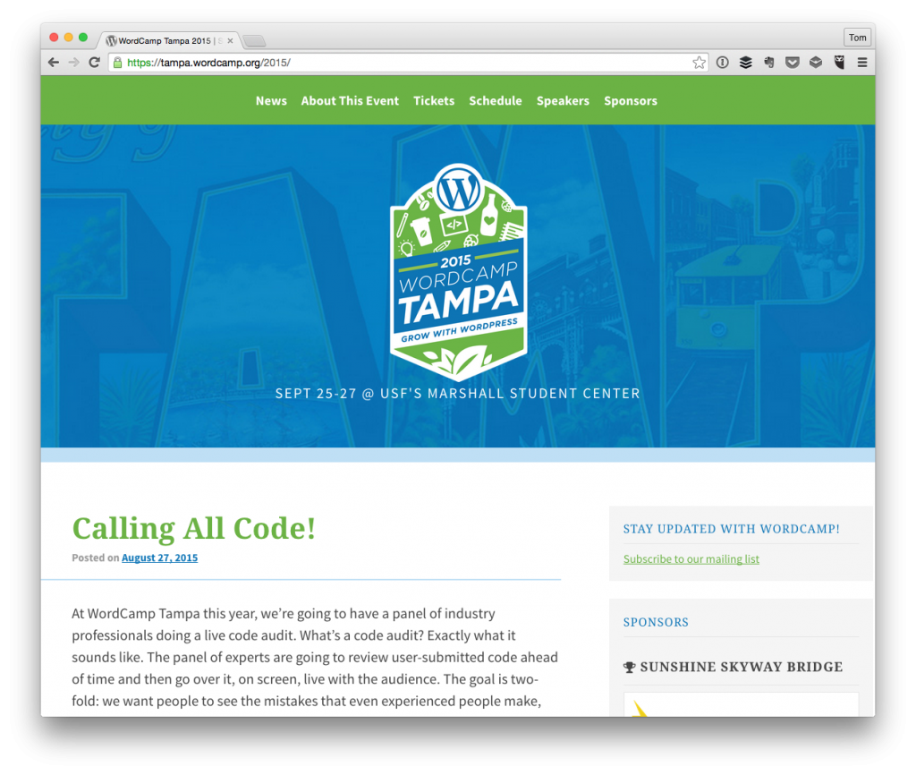 Code Reviews at WordCamp Tampa