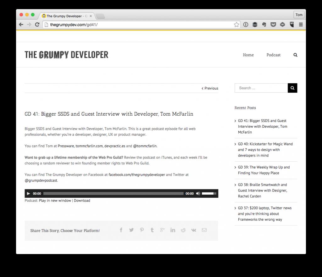 Grumpy Developer Podcast Episode 41