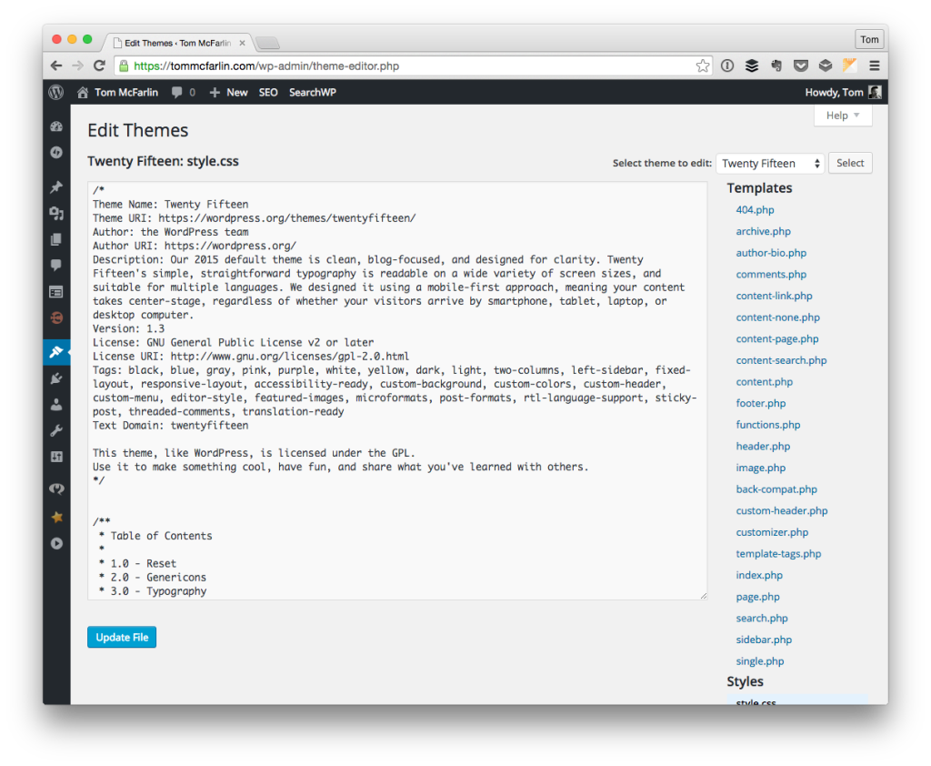 The CSS Editor