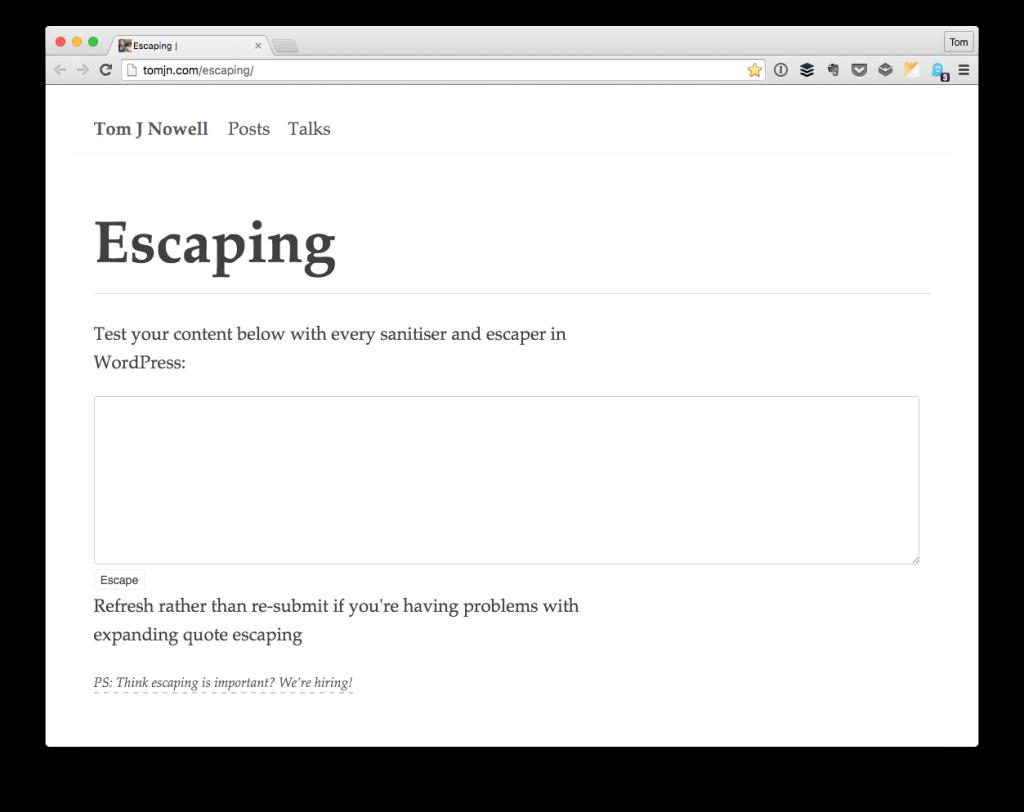 Escaping