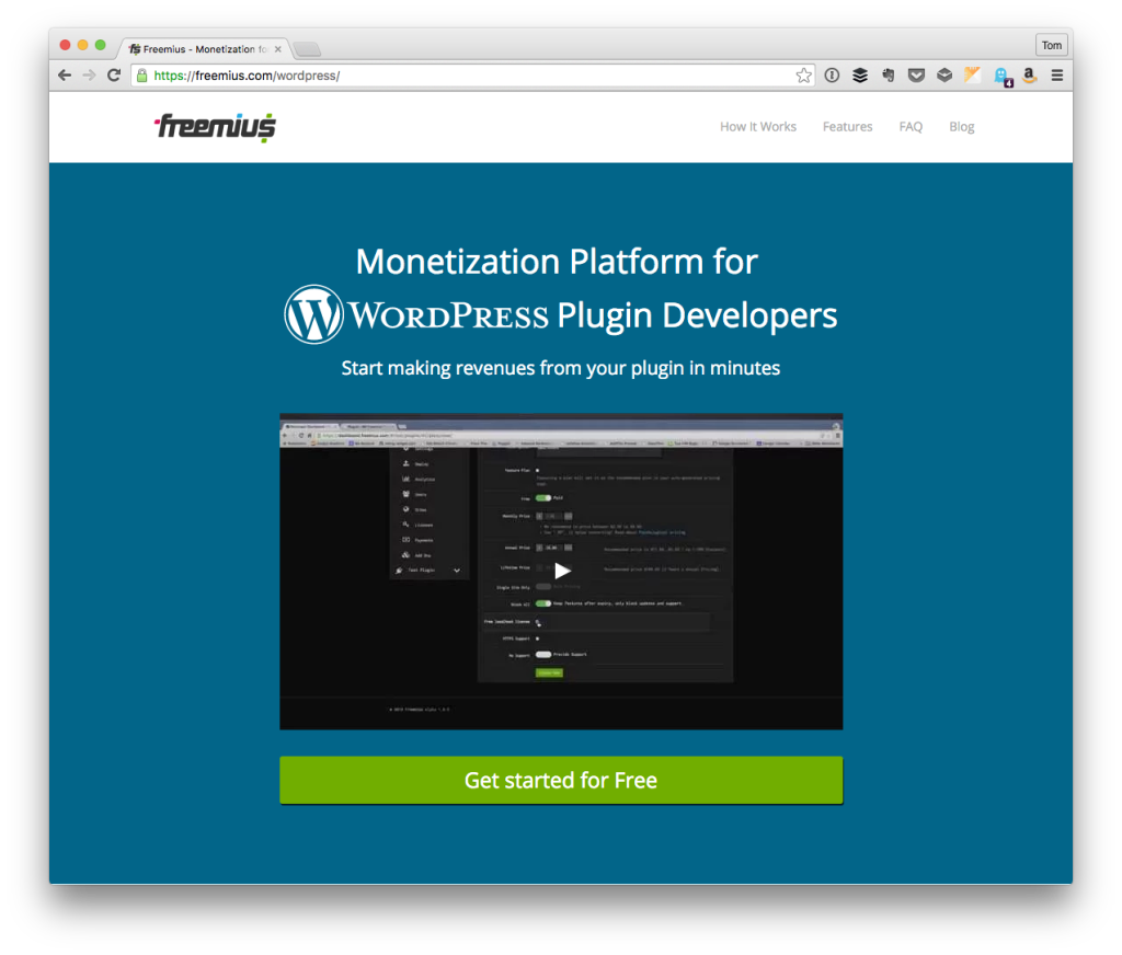 Freemius for WordPress