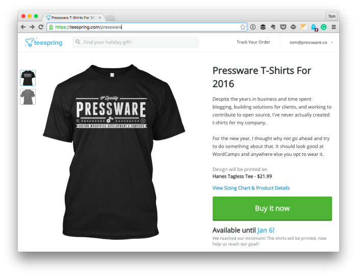 Pressware Shirts