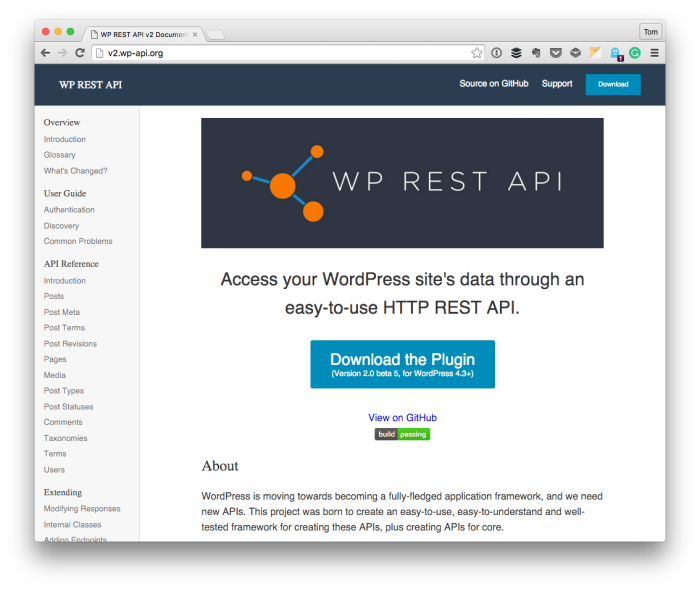 WordPress REST API Documentation