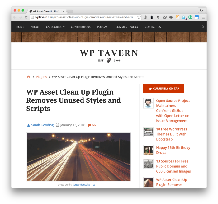 Clean up WordPress
