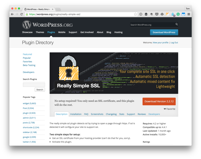 SSL for WordPress