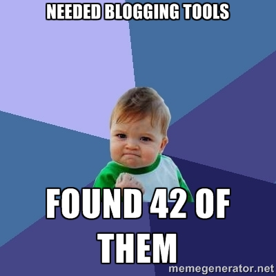 So many tools for my personal blog!