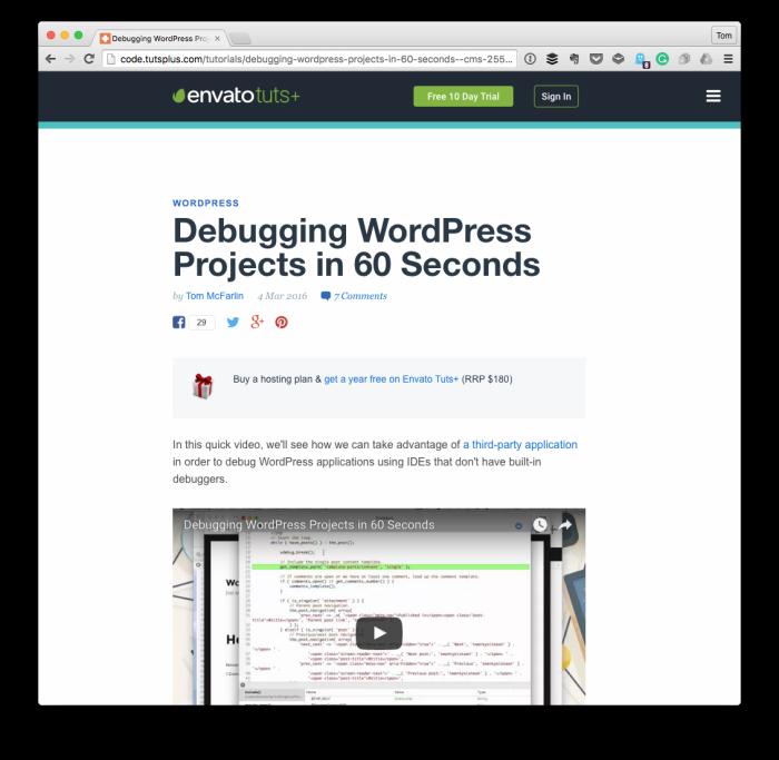 Debug WordPress Projects