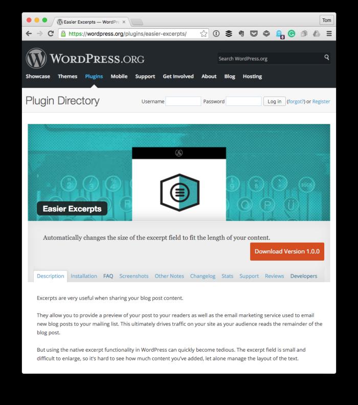 Easier Excerpts for WordPress