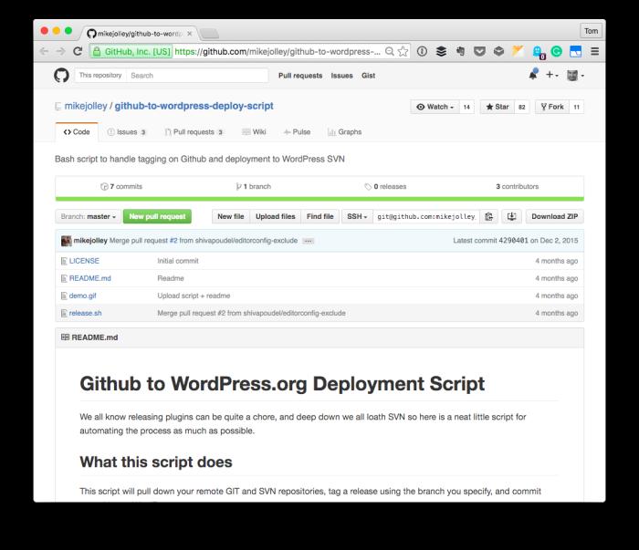 From GitHub to WordPress