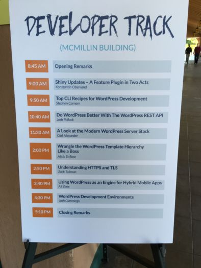 The Developer Track at WordCamp San Diego
