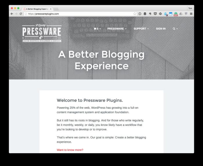 2017 Plans: Pressware Plugins