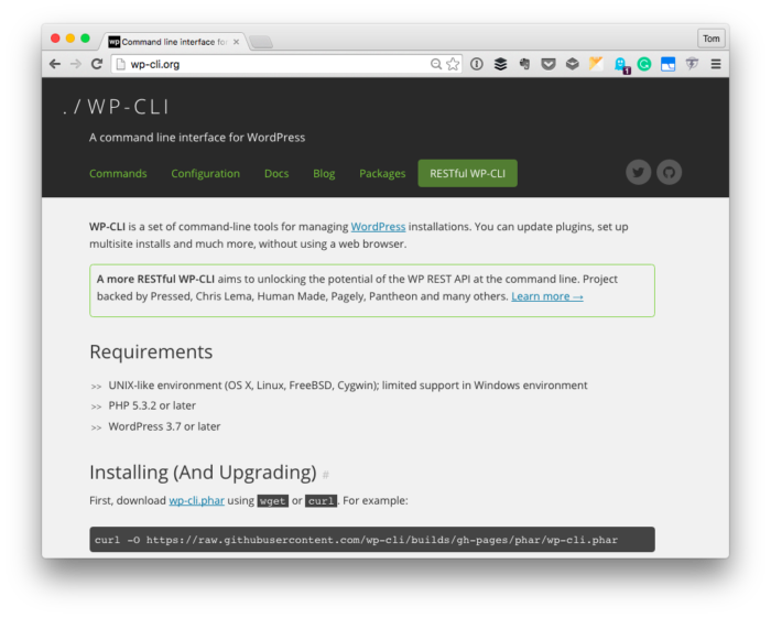 The WP-CLI Homepage