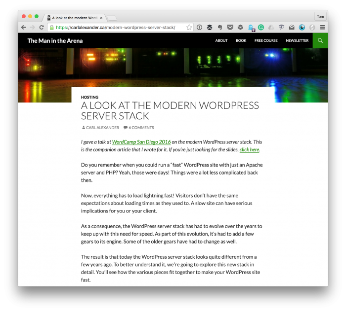 Modern WordPress Server Stack