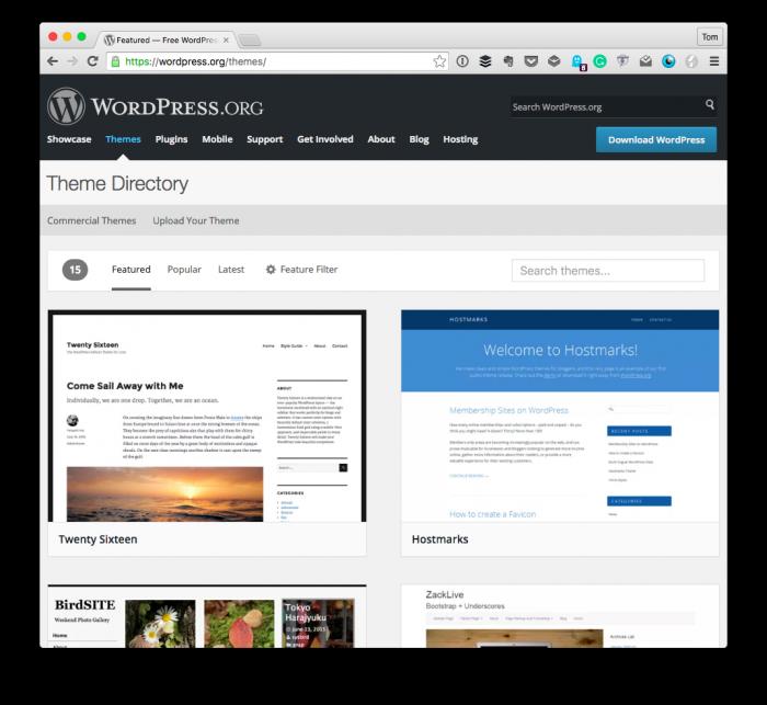 WordPress Developer: Themes