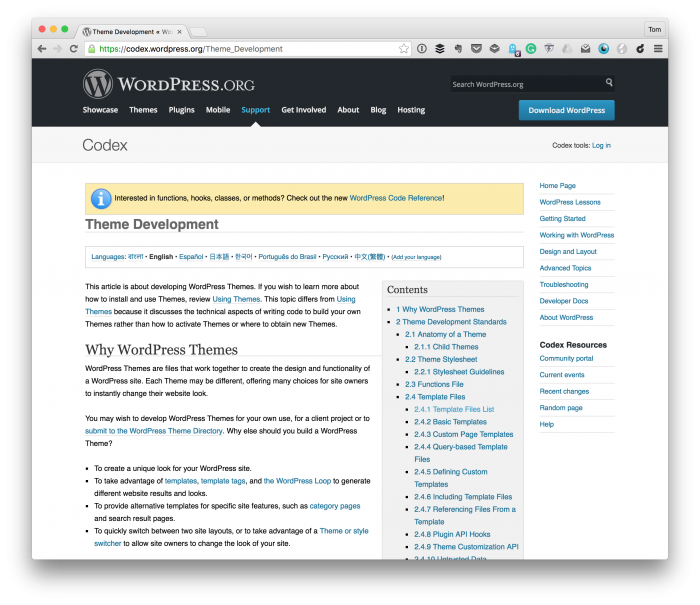 The First Release of a WordPress Theme