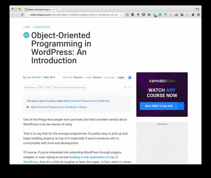 Object-Oriented Programming in WordPress