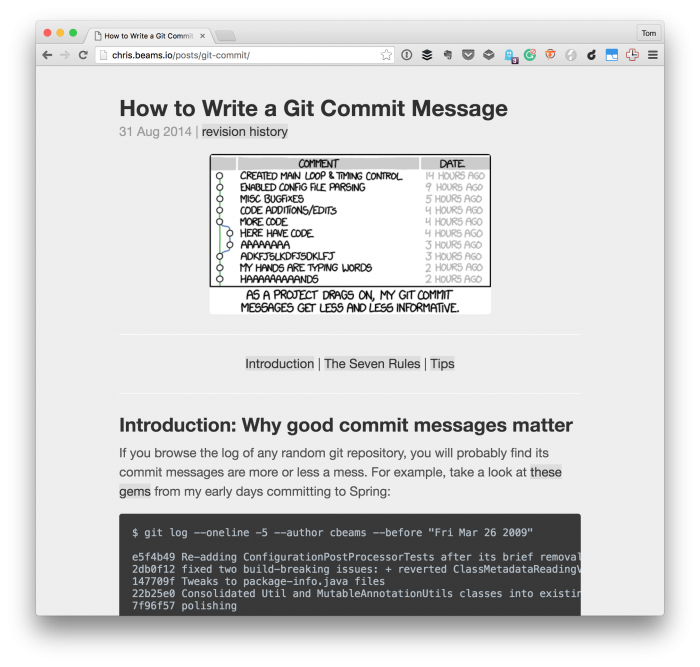 Good Git Commit Messages