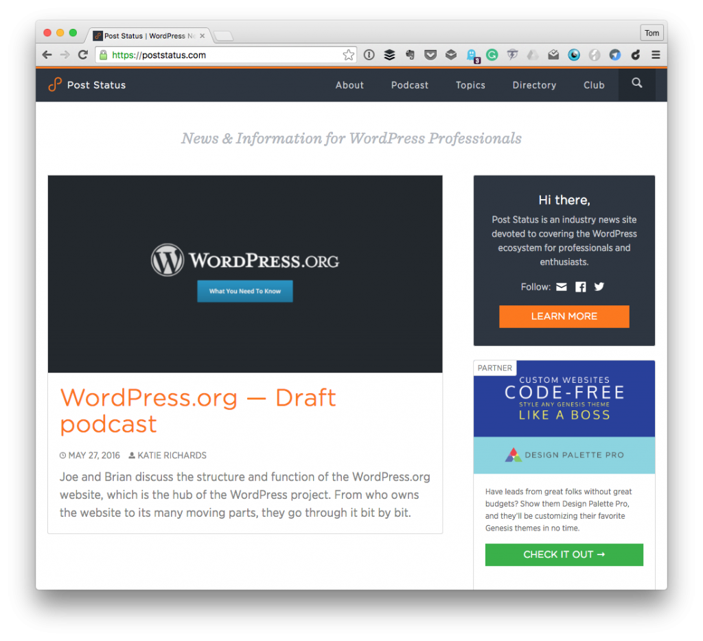 Post Status: A WordPress Employee Benefit
