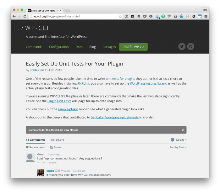 Set up Unit Testing for WordPress