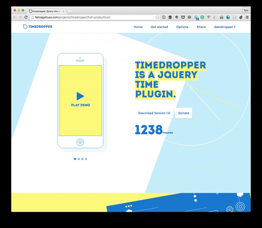 Timedropper - a jQuery Time Plugin