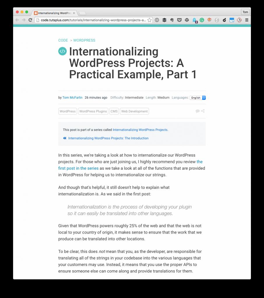Internationalizing WordPress Plugins