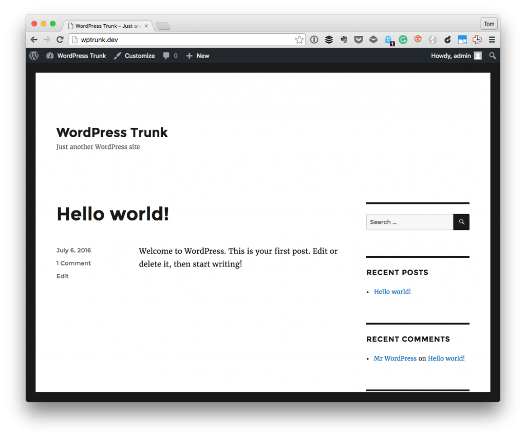 Pressmatic with WordPress Trunk: The Installation